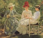 Edmund Charles Tarbell Three Sisters-A Study in june Sunlight oil painting picture wholesale