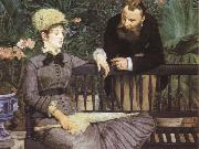 Edouard Manet In the Conservatory oil painting picture wholesale