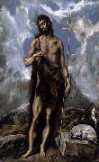 El Greco St. John the Baptist oil painting picture wholesale