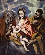 El Greco The Holy Family iwth St Anne oil painting picture wholesale
