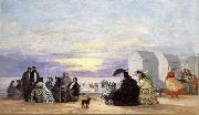 Eugene Boudin Beach Scene at Sunse oil painting picture wholesale