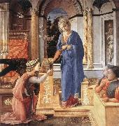 Fra Filippo Lippi The Annunciation with two Kneeling Donors oil painting picture wholesale