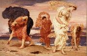 Frederick Leighton Greek Girls Picking up Pebbles by the Sea oil painting picture wholesale