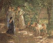 Fritz von Uhde In the Garden oil painting picture wholesale