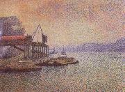 Georges Lemmen View of The thames oil painting artist