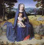 Gerard David Vila during the flight to Egypt oil painting artist