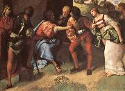 Giorgione The Adulteress brought before christ Giorgione oil painting picture wholesale