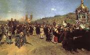 Ilya Repin Religious Procession in the Province of Kursk oil painting