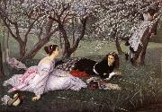 J.J.Tissot Spring oil painting picture wholesale