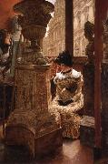 J.J.Tissot The Aesthetics at the Louvre oil painting picture wholesale