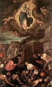 Jacopo Bassano St Roche among the Plague Victims and the Madonna in Glory oil painting picture wholesale