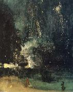 James Abbot McNeill Whistler Nocturne in Black and Gold,the Falling Rocket oil painting reproduction