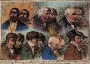 James Gillray Dublures of Characters oil painting picture wholesale