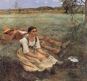 Jules Bastien-Lepage Haymaking oil painting picture wholesale