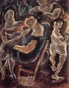 Jules Pascin Drinking tea oil painting