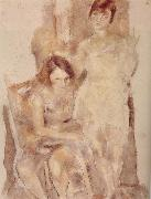 Jules Pascin Jinede and Miliu oil painting picture wholesale