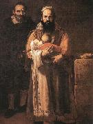 Jusepe de Ribera Magdalena Ventura with Her Husband and Son oil painting picture wholesale