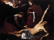 Jusepe de Ribera St Sebastian Tended by the Holy Women oil painting picture wholesale