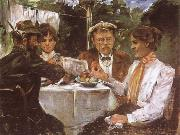 Lovis Corinth In Max Halbe-s Garden oil painting picture wholesale