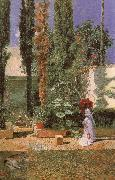 Mariano Fortuny y Marsal Fortuny-s Garden oil painting artist
