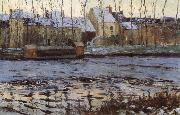 Maurice cullen Winter at Moret oil painting artist