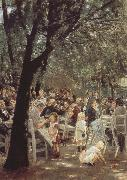 Max Liebermann Munich Beer Garden oil painting picture wholesale