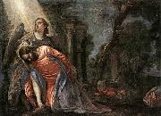 Paolo  Veronese Christ in the Garden Supported by an Angel oil painting picture wholesale