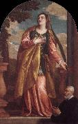 Paolo Veronese Sta Lucia och en donator oil painting picture wholesale