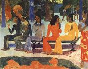 Paul Gauguin We Shall not go to market Today oil painting picture wholesale