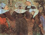 Paul Gauguin The Four Breton girl oil painting picture wholesale