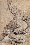 Peter Paul Rubens Pencil sketch of man-s back oil painting picture wholesale