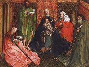 Robert Campin Madonna and Child with saints in a inhagnad tradgard oil painting picture wholesale