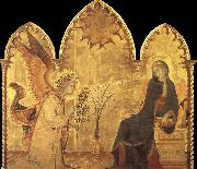 Simone Martini Detail of the Annunciation and two saints oil painting picture wholesale