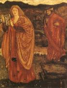 Sir Edward Coley Burne-Jones Merlin and Nimue oil painting picture wholesale