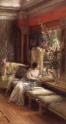 Sir Lawrence Alma-Tadema,OM.RA,RWS Vain Courtship oil painting picture wholesale