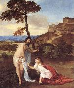 TIZIANO Vecellio Christ and Maria Magdalena oil painting picture wholesale