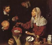 VELAZQUEZ, Diego Rodriguez de Silva y The Woman Fry eggs oil painting picture wholesale