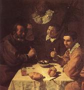 VELAZQUEZ, Diego Rodriguez de Silva y The three man beside the table oil painting picture wholesale