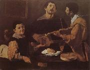VELAZQUEZ, Diego Rodriguez de Silva y Three musician oil painting picture wholesale