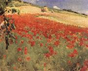 William blair bruce Landscape with Poppies oil painting artist