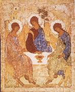 unknow artist Andrei Rublev, The gammaltestamentliga Trinity oil painting picture wholesale