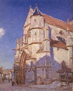 Alfred Sisley The Church at Moret oil painting picture wholesale