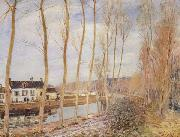 Alfred Sisley The Canal du Loing at Moret oil painting picture wholesale