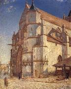 Alfred Sisley The Church at Moret in Morning Sun oil painting picture wholesale