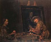 Arent De Gelder Self-Portrait Painting an Old Woman oil
