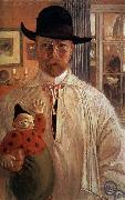 Carl Olaf Larsson Self-Portrait oil
