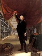 Charles Willson Peale The Artist in his Museum oil