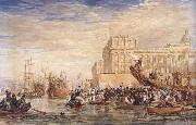 David Cox Embarkation of His Majesty George IV from Greenwich (mk47) oil