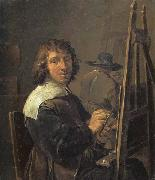 David Teniers Self-Portrait:The Painter in his Studio oil painting picture wholesale