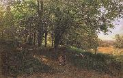 Edmund George Warren,RI Rest in the cool and shady Wood (mk46) oil painting artist
